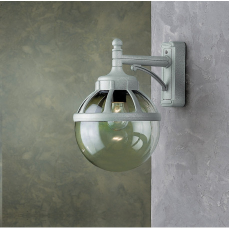 Garden Light Globo Wall Light Grey
