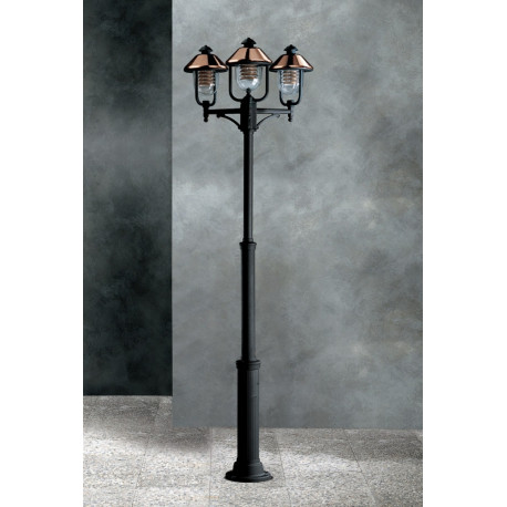 Garden Light Vecchio Rame Lamp-post Black