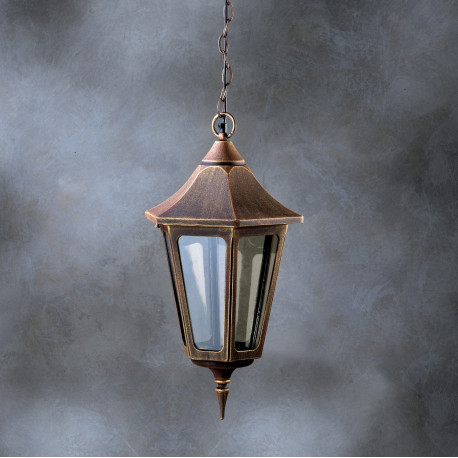 Garden Light Esagonale Hanging Light Brown
