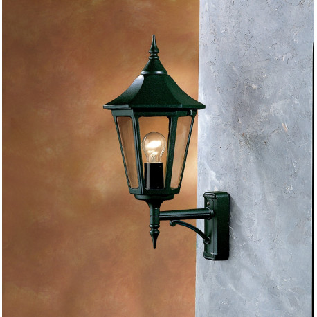 Garden Light Esagonale Wall Light Black