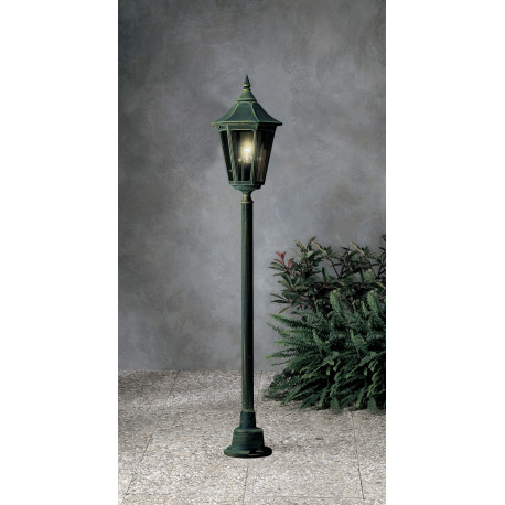 Garden Light Esagonale Bollard Green/Gold