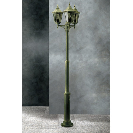 Garden Light Esagonale Lamp-post Green/Gold