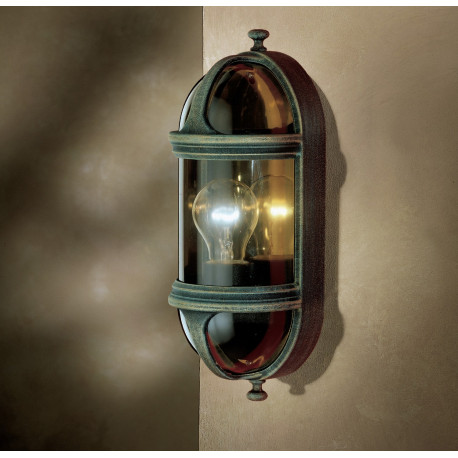 Garden Light Ovale 2 Wall Light Green/Gold