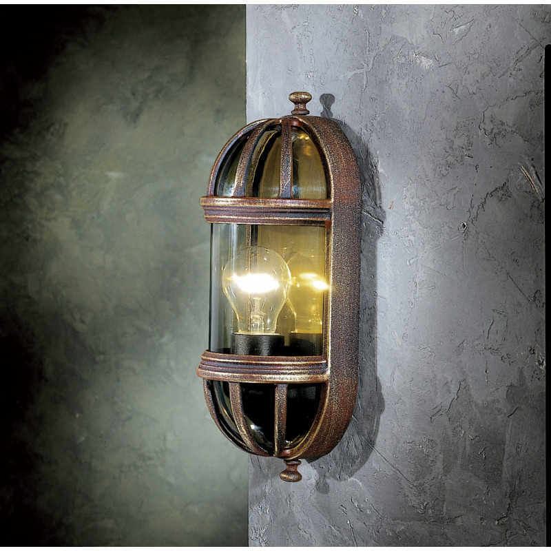 Garden Light Ovale 1 Wall Light Brown