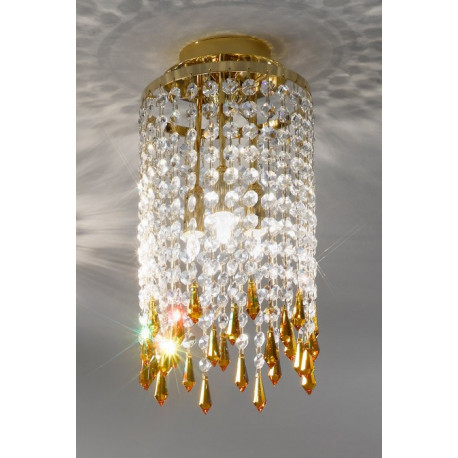 Kolarz Charleston Crystal Ceiling Light Gold