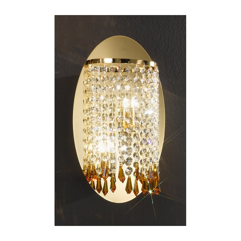 Kolarz Charleston Crystal Wall Light Gold