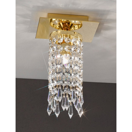Kolarz Charleston Noblesse Crystal Ceiling Light Gold