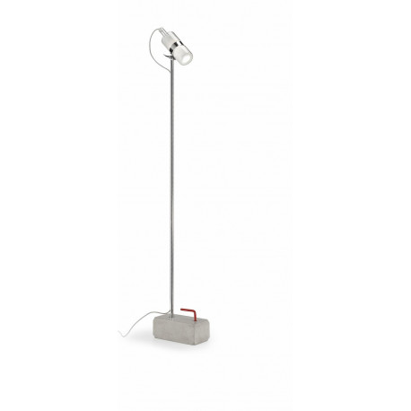 Leucos Shaker Glass Floor Lamp White