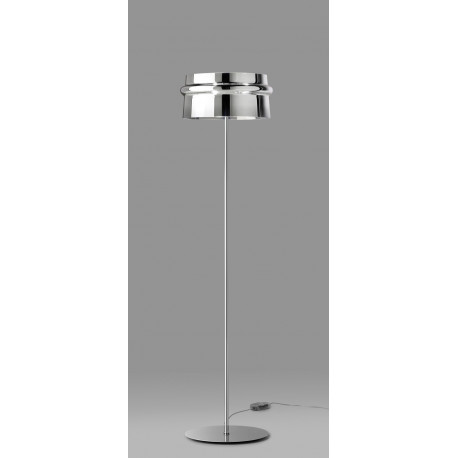 Leucos Aro Glass Floor Lamp Chrome