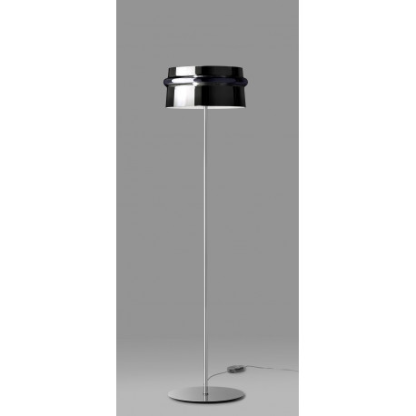 Leucos Aro Glass Floor Lamp Black