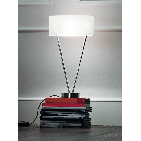 Leucos Vittoria Glass Table Lamp White