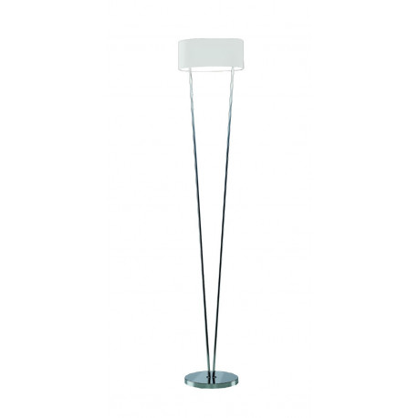 Leucos Vittoria Glass Floor Lamp White