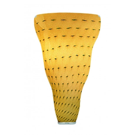 Leucos Vivia Glass Wall Light Amber