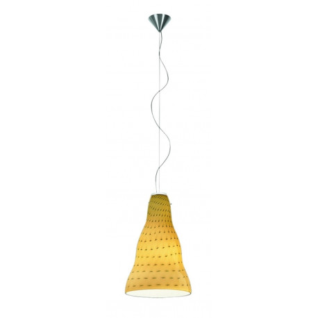 Leucos Vivia Glass Hanging Light Amber
