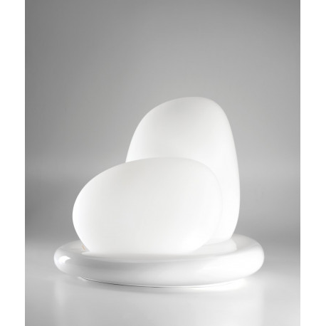 Leucos Moai Glass Floor/Table Lamp White