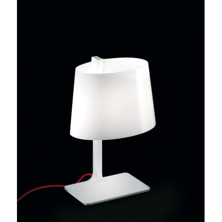 Leucos Marlowe Glass Table Lamp Red Cable