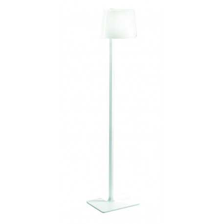 Leucos Marlowe Glass Floor Lamp Red Cable