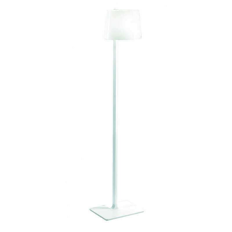 Leucos Marlowe Glass Floor Lamp Red Cable - Lighting Deluxe
