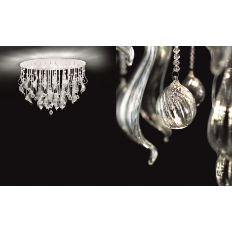 Leucos Elysee Crystal Ceiling Light