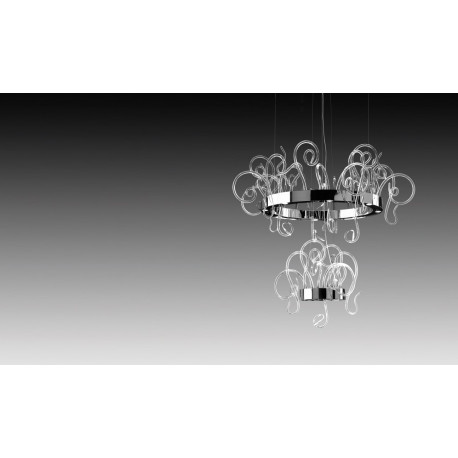 Leucos Aspid Glass Hanging Light Clear