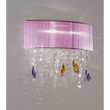 Kolarz Paralume Crystal Wall Light Violet