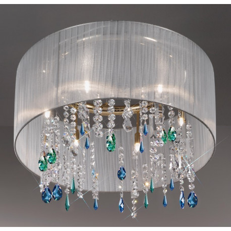Kolarz Paralume Crystal Chandelier/Ceiling Light White