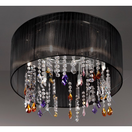 Kolarz Paralume Crystal Chandelier/Ceiling Light Black