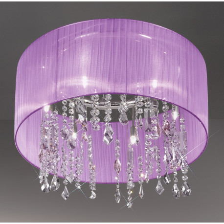 Kolarz Paralume Crystal Chandelier/Ceiling Light Violet
