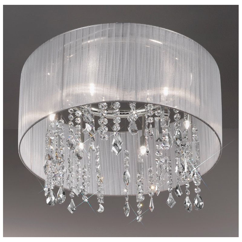 Paralume crystal chandelierceiling light white kolarz lighting kolarz paralume crystal chandelierceiling light white mozeypictures Images