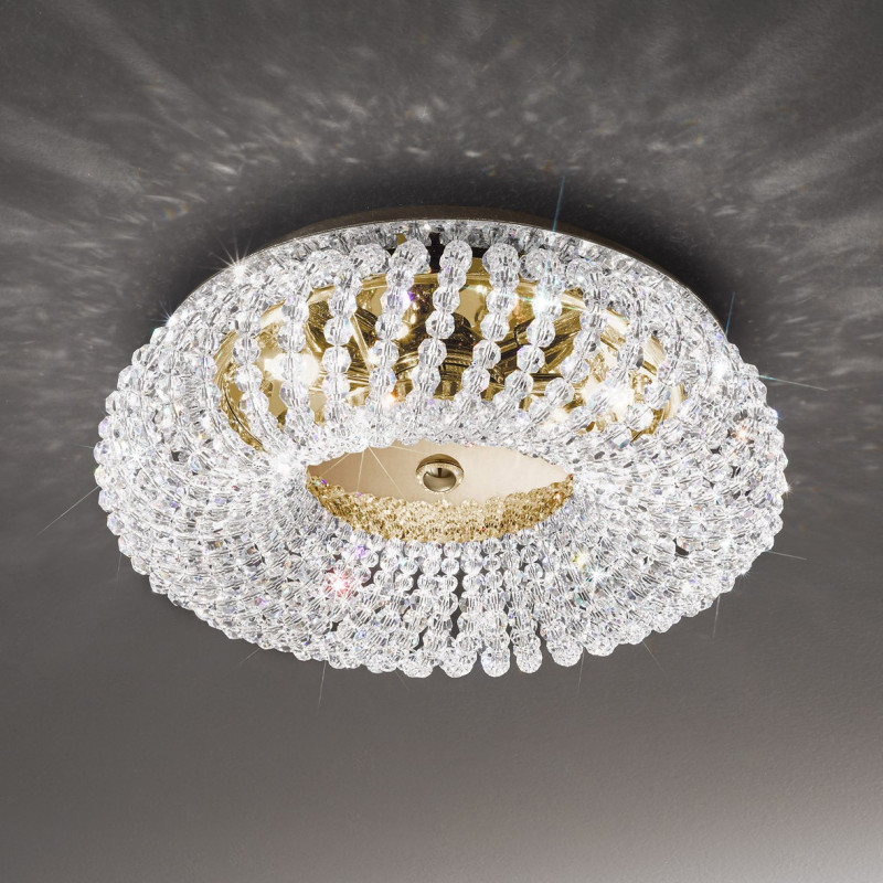 Kolarz Carla Crystal Ceiling Light Gold