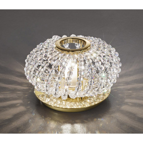 Kolarz Carla Crystal Table Lamp Gold