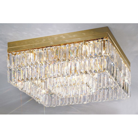 Kolarz Prisma Crystal Square Ceiling Light Gold