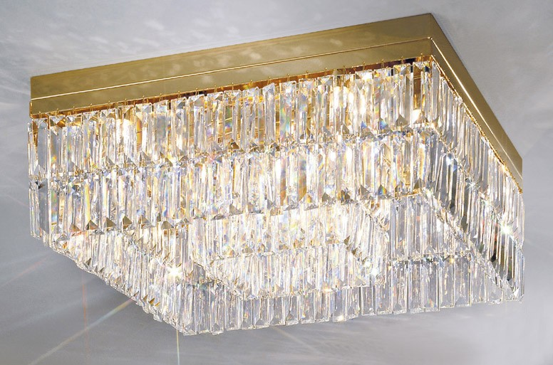 Prisma crystal square ceiling light gold kolarz lighting prisma crystal square ceiling light gold kolarz lighting lighting deluxe aloadofball Image collections