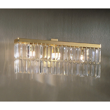 Kolarz Prisma Crystal Wall Light Gold