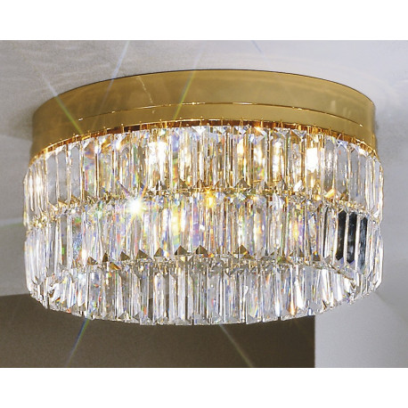 Kolarz Prisma Crystal Circular Ceiling Light Gold