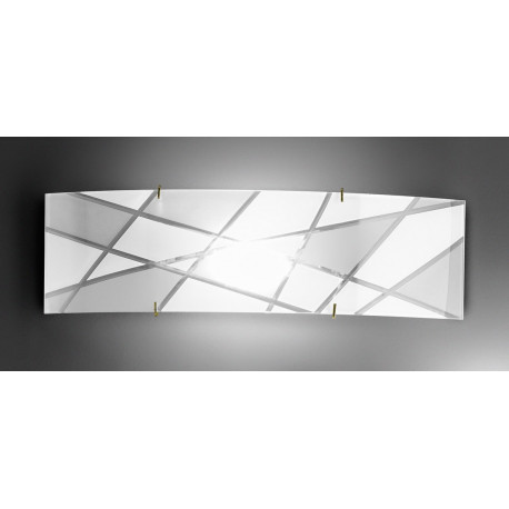 Kolarz Mikado Glass Wall Light Gold and White