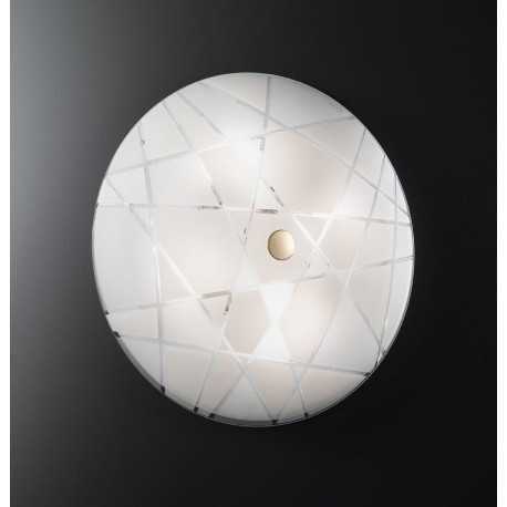 Kolarz Mikado Glass Ceiling Light Gold and White
