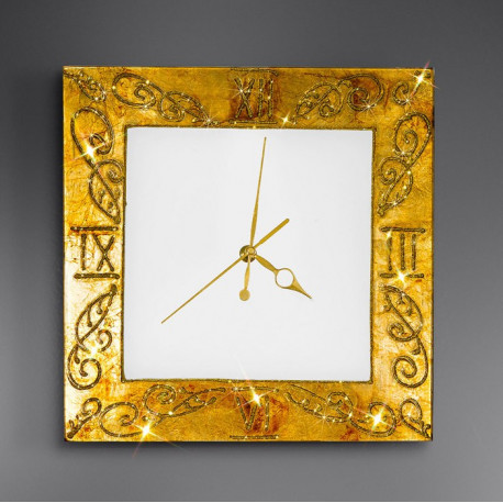 Kolarz Medici Glass Wall Clock Gold