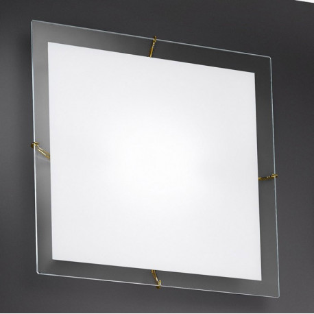 Kolarz Bianca Square Glass Ceiling Light Gold