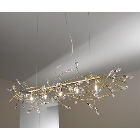Kolarz Twister Crystal Chandelier Gold