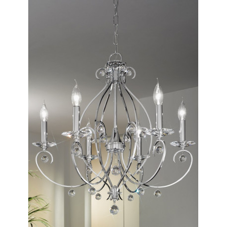 Kolarz Carat Crystal Chandelier Chrome