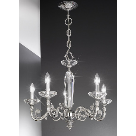 Kolarz Contarini Crystal Chandelier Chrome