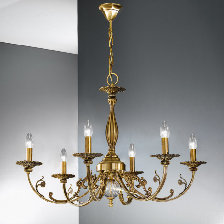 Kolarz Pisani Chandelier Antique Brass