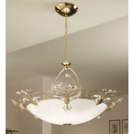 Kolarz Cornaro Crystal Hanging Light Gold