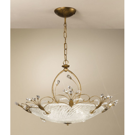 Kolarz Cornaro Crystal Hanging Light Antique Gold