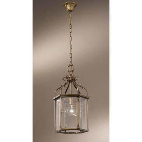 Kolarz Orangerie Glass Pendant Antique Brass