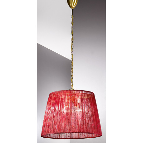 Kolarz La Fenice Hanging Light Gold and Red