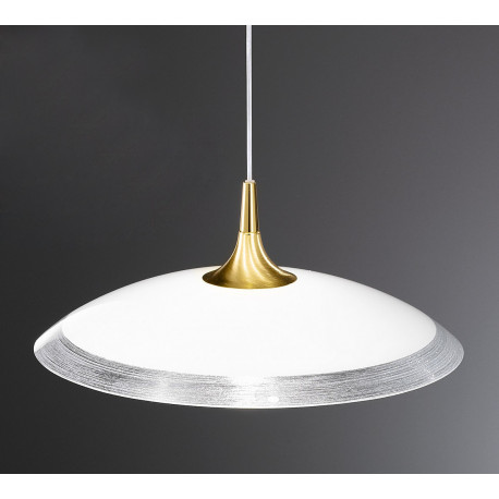 Kolarz Cristallino Glass Hanging Light Gold and Silver