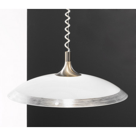 Kolarz Cristallino Glass Hanging Light Nickel and Silver