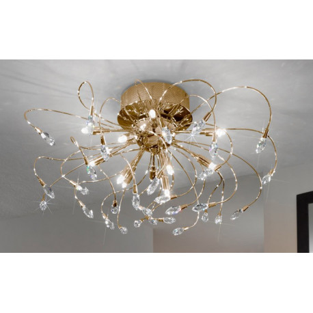 Kolarz Twister Crystal Ceiling Light Gold